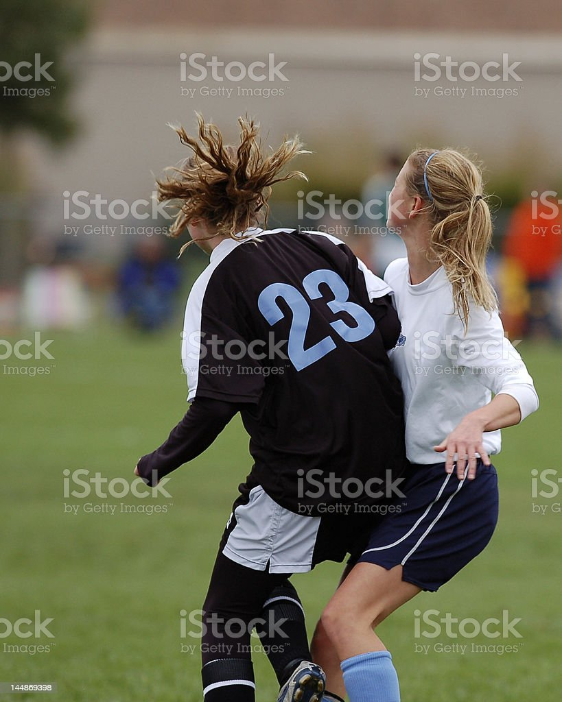 Soccer Girls royalty-free stock photo