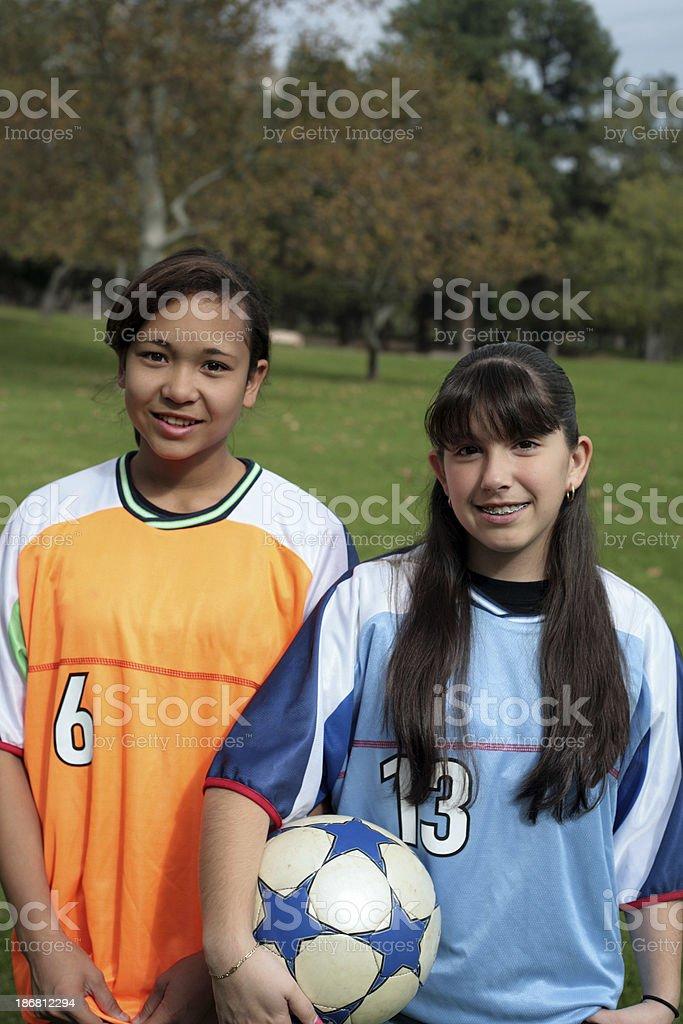 Soccer Girls royalty-free stock photo