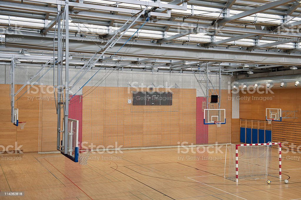 Soccer Goal From Above royalty-free stock photo