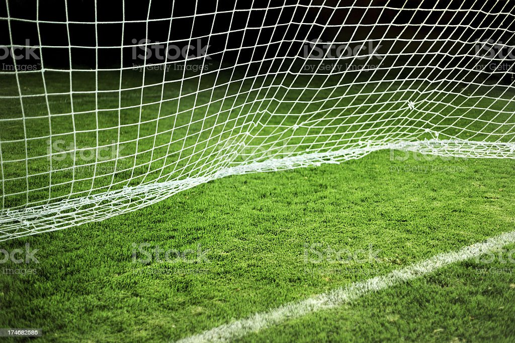 Soccer goal line.XXXL stock photo