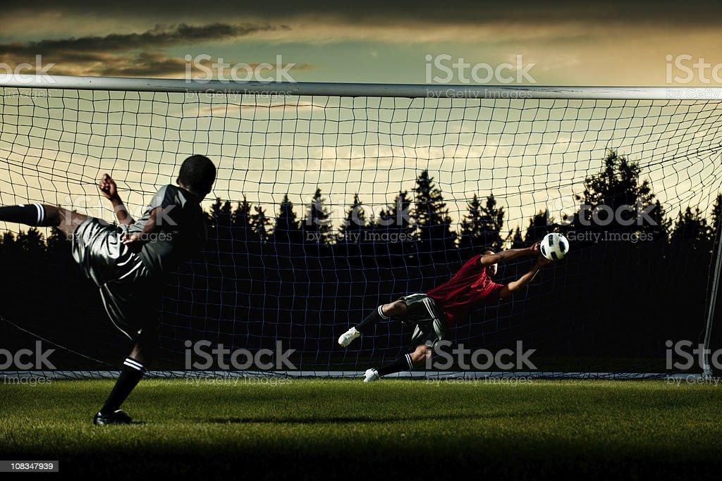 Soccer Goal royalty-free stock photo