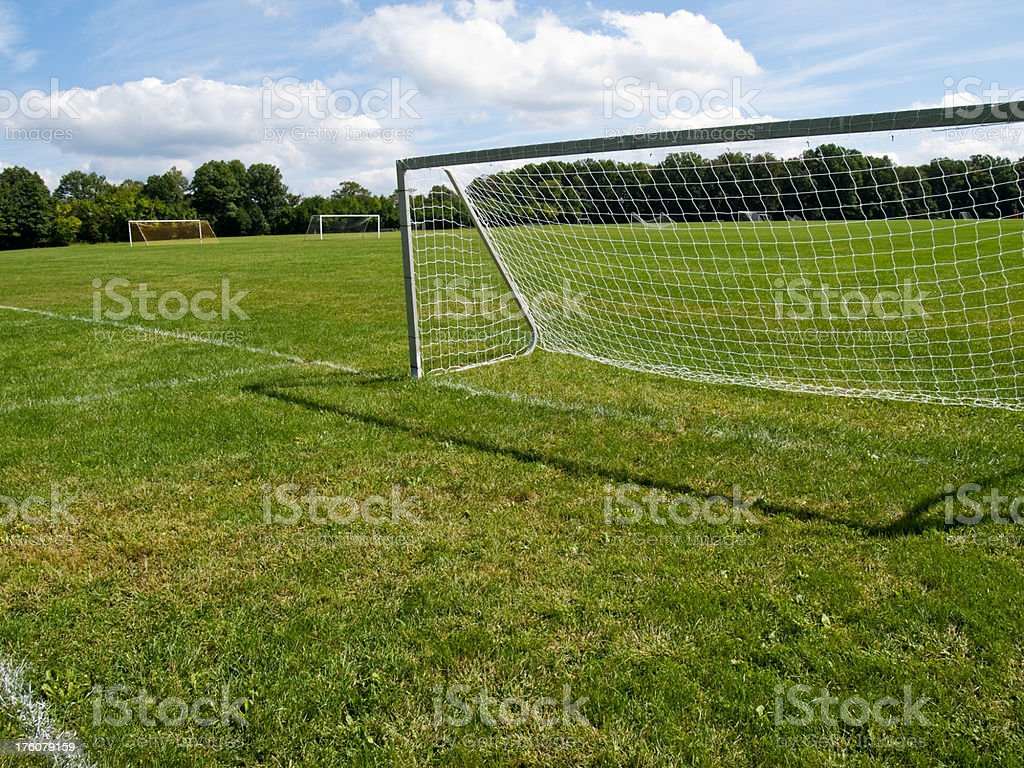 Soccer goal royalty-free stock photo