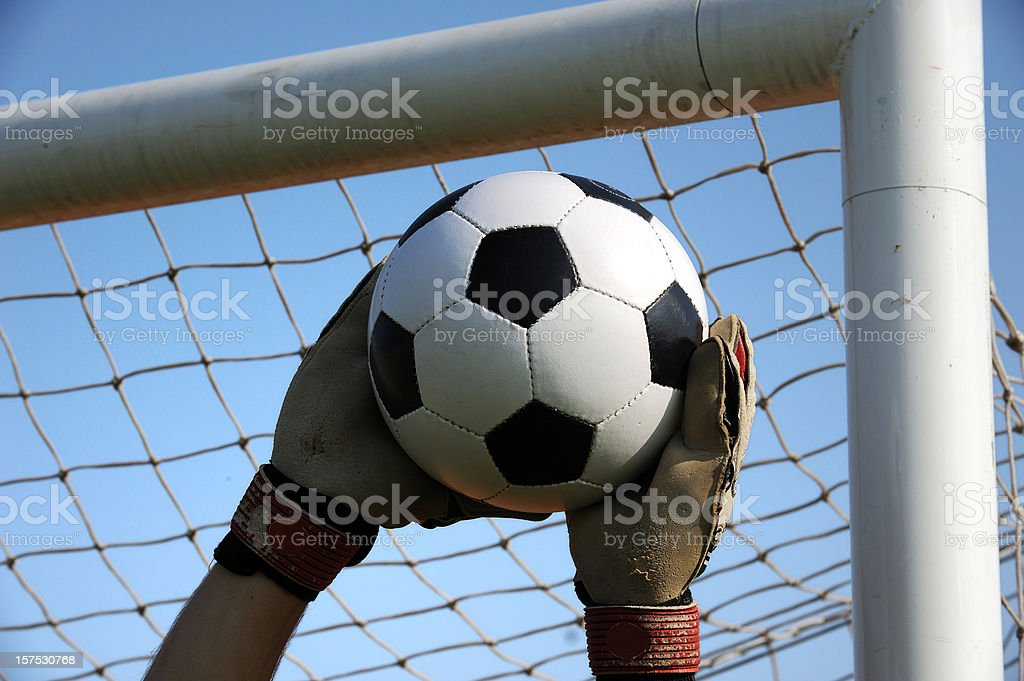 Soccer goalie royalty-free stock photo