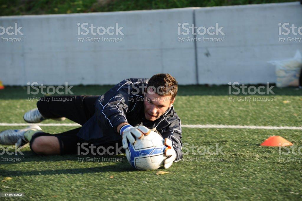 Soccer goalie royalty-free stock photo