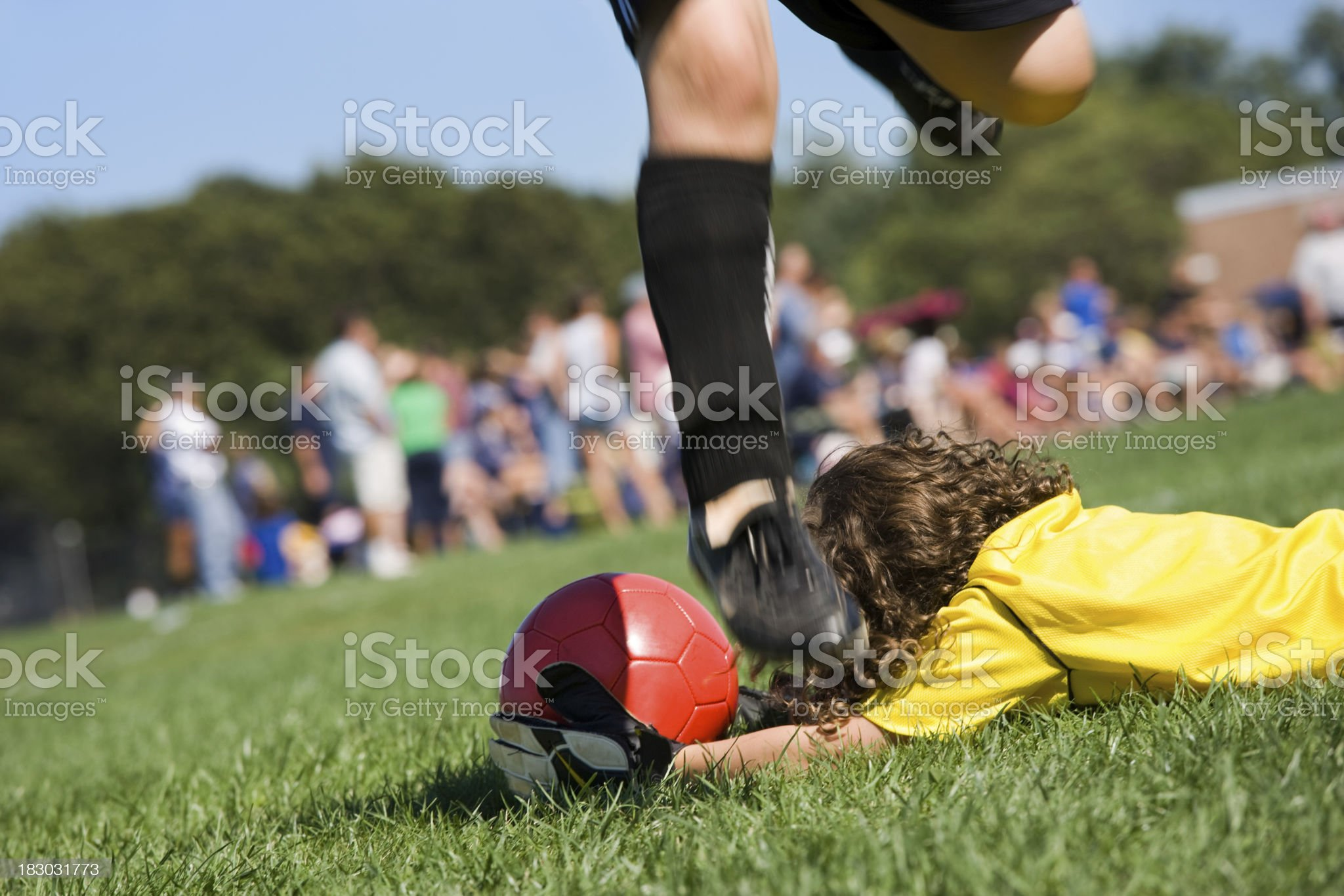 soccer Goalie save royalty-free stock photo