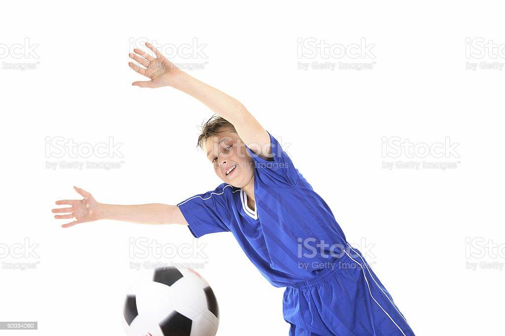 Soccer Goalkeeper royalty-free stock photo