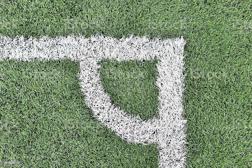 Soccer green field royalty-free stock photo