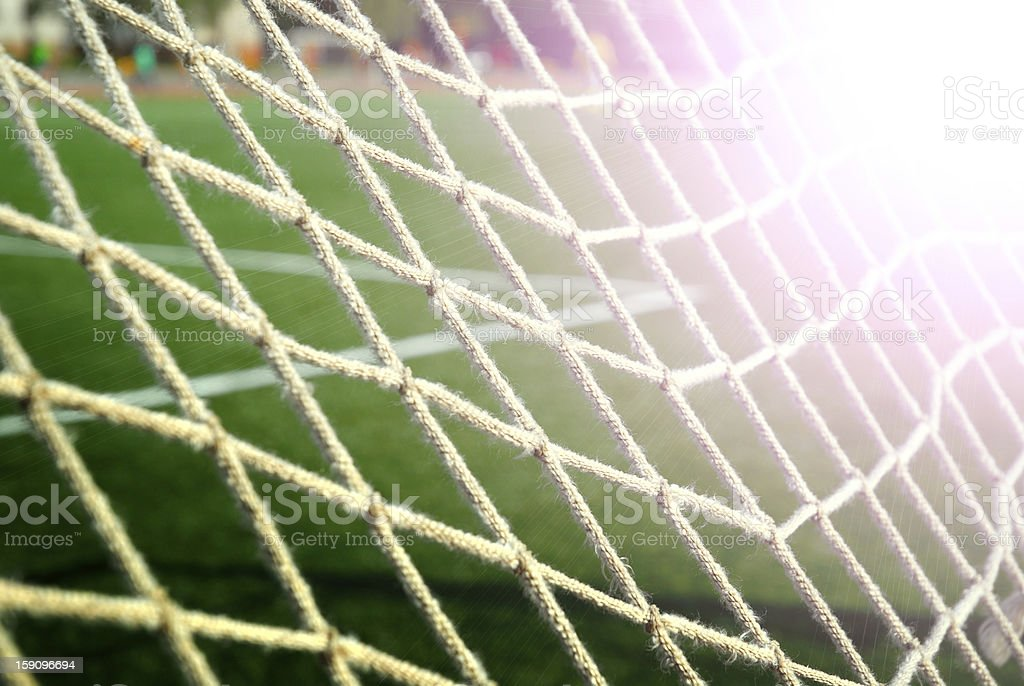 soccer grid on the green field royalty-free stock photo