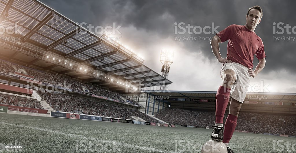 Soccer Hero Portrait royalty-free stock photo