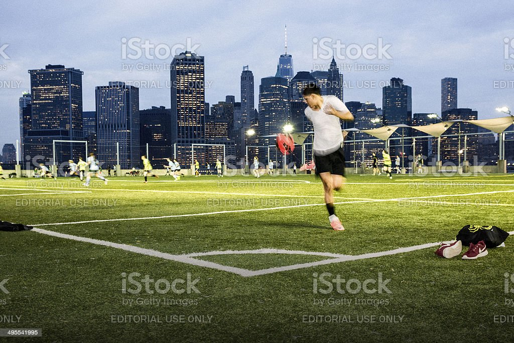 Soccer in NYC royalty-free stock photo