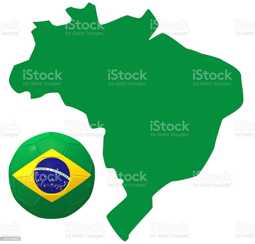 Soccer in South America stock photo