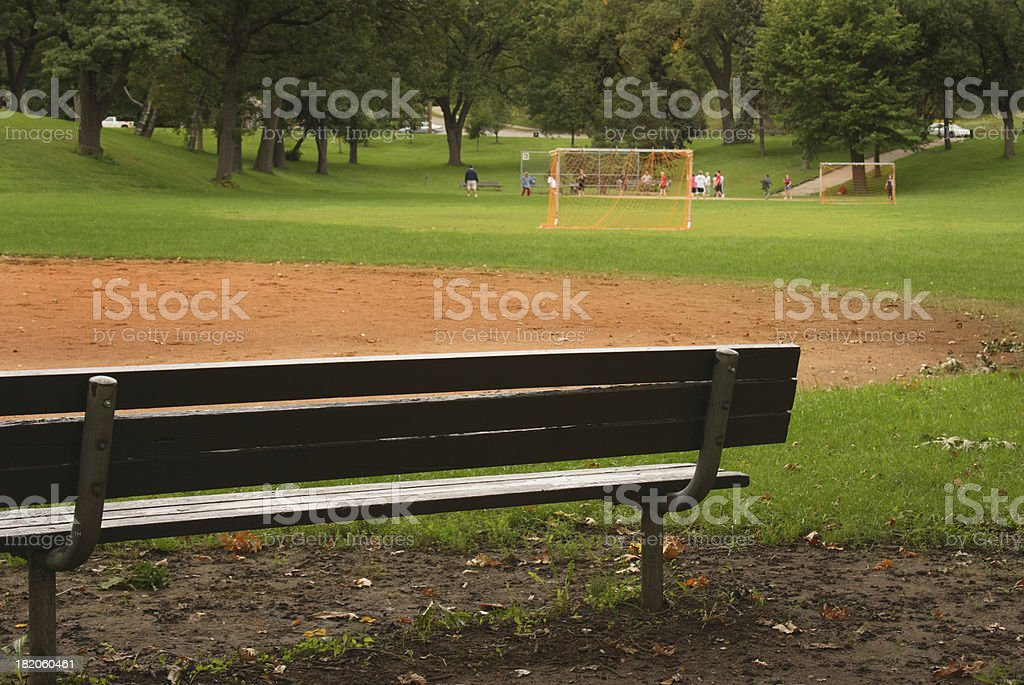 Soccer in the Park royalty-free stock photo