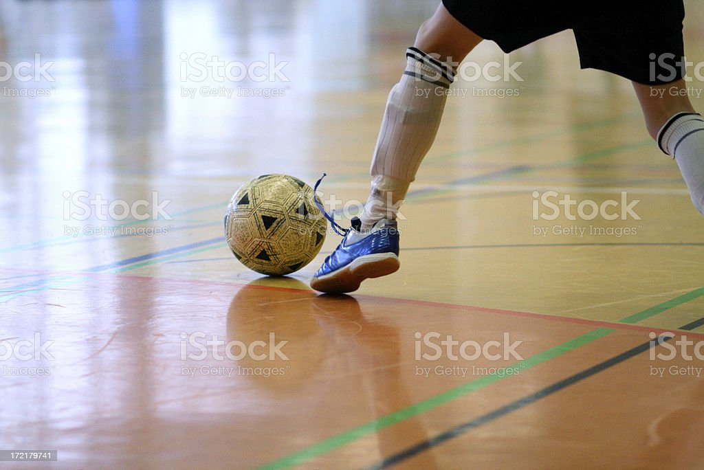 soccer indoor stock photo
