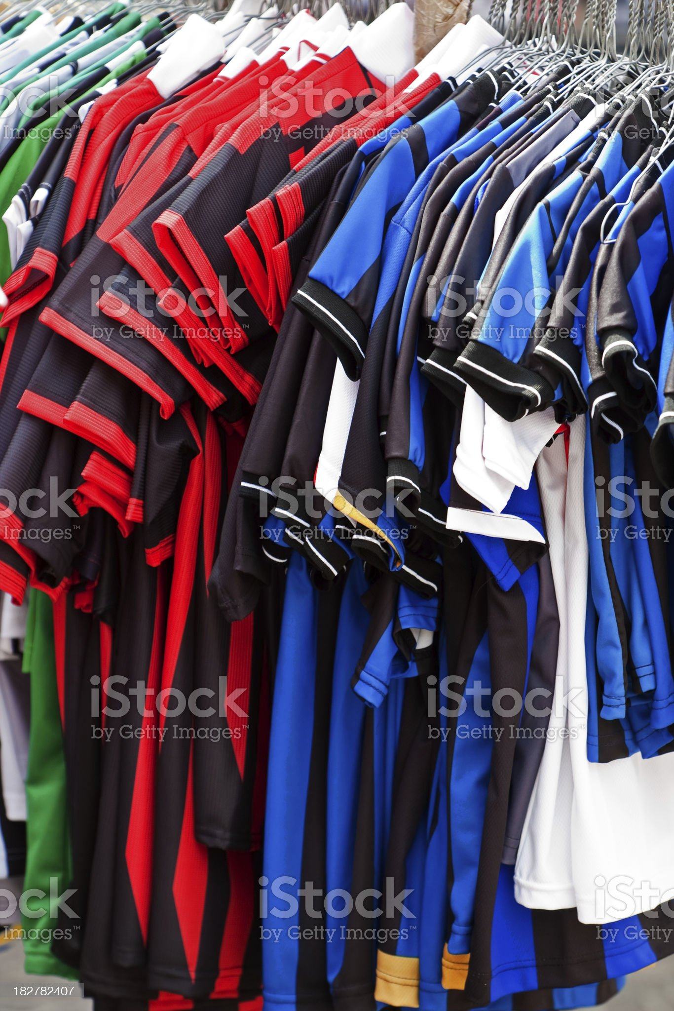 Soccer Jerseys royalty-free stock photo