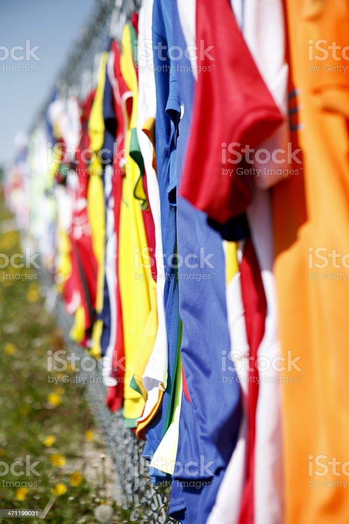 Soccer Jerseys royalty-free stock photo