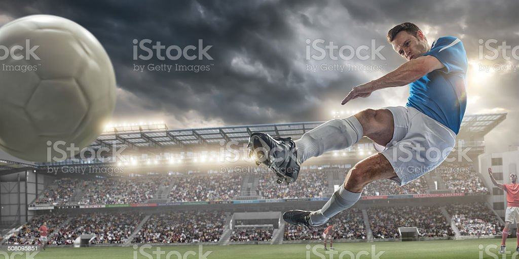 Soccer Kick stock photo