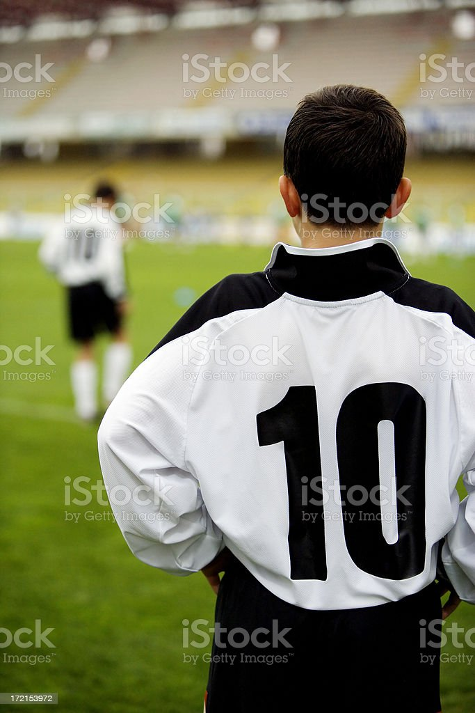 soccer kid number 10 royalty-free stock photo