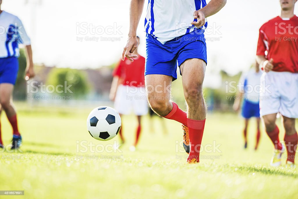 Soccer match. stock photo