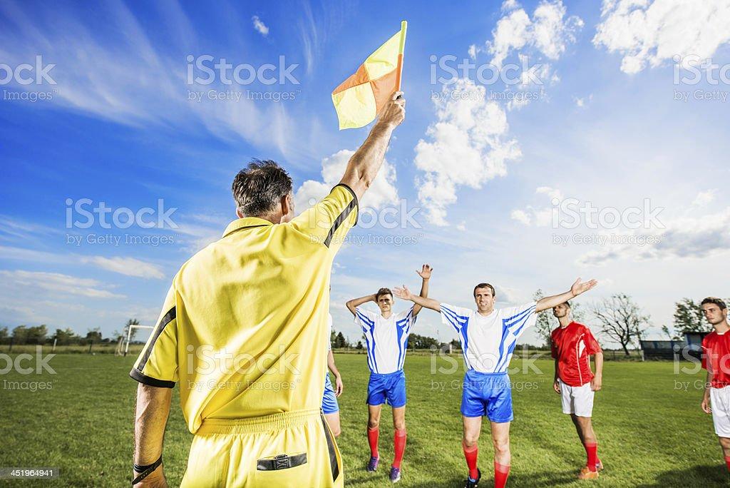 Soccer match. stock photo