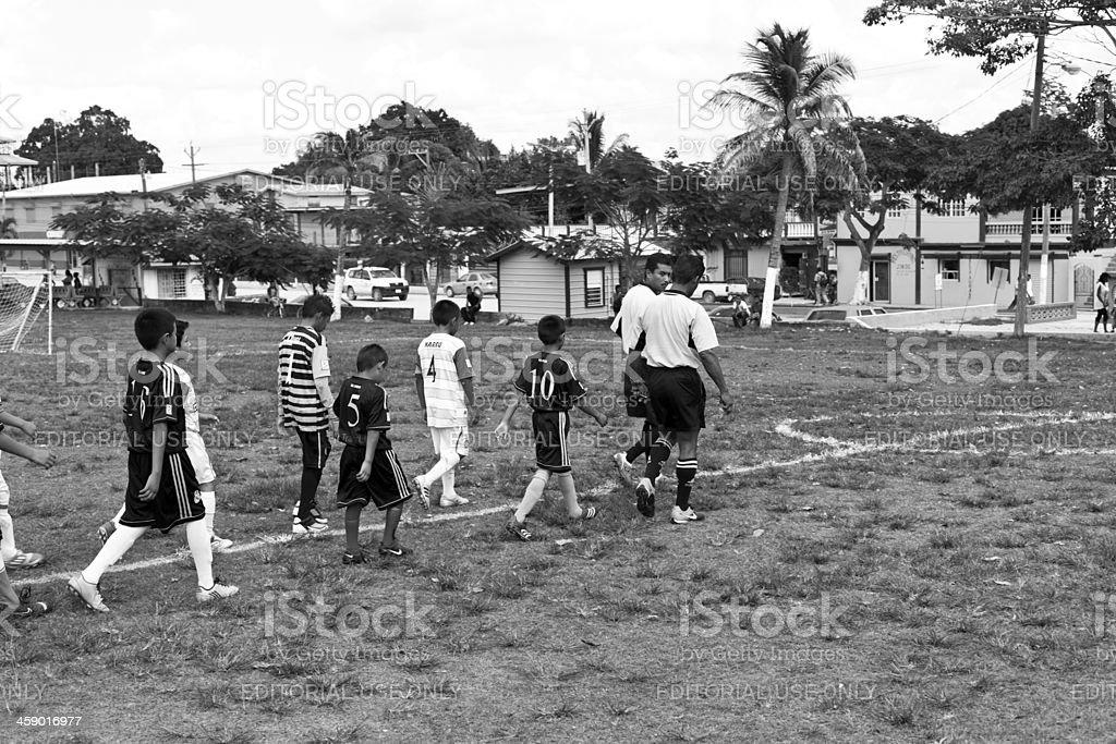 Soccer match royalty-free stock photo