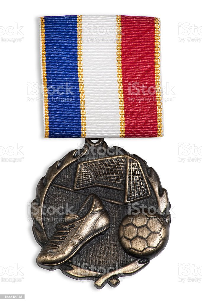 Soccer Medal royalty-free stock photo