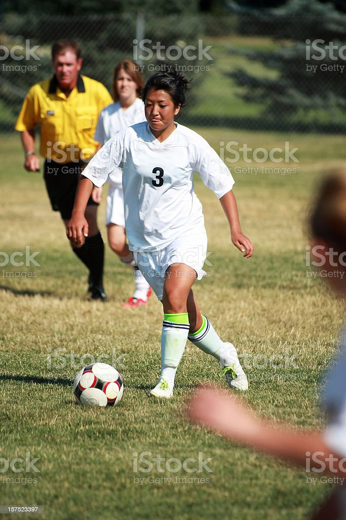 Soccer Mid-field Attack royalty-free stock photo