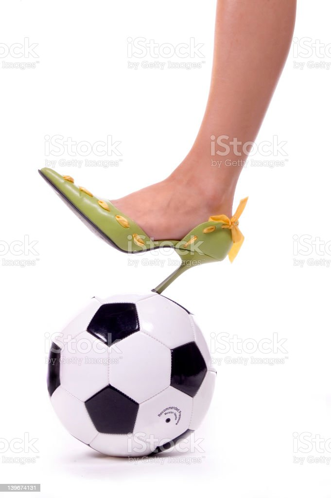 Soccer Mom Spike! royalty-free stock photo
