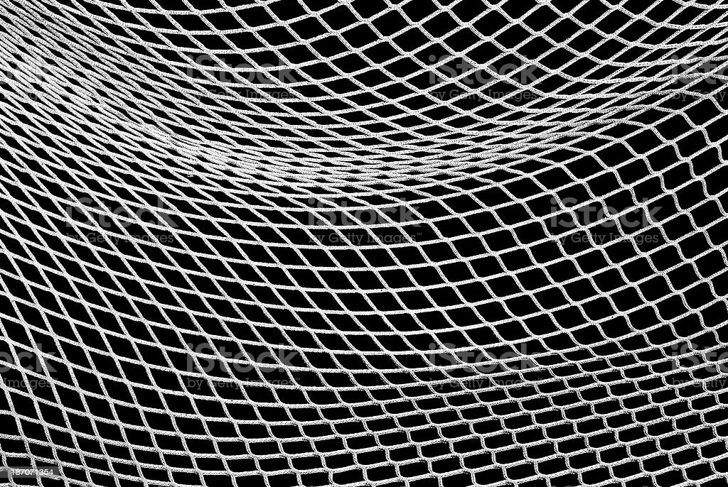 Soccer Net in Black and White royalty-free stock photo