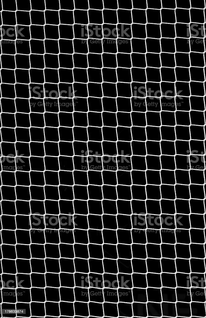 Soccer Net on Black stock photo