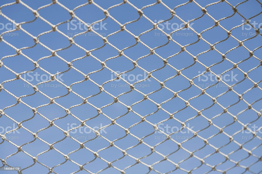 Soccer net with a blue sky royalty-free stock photo