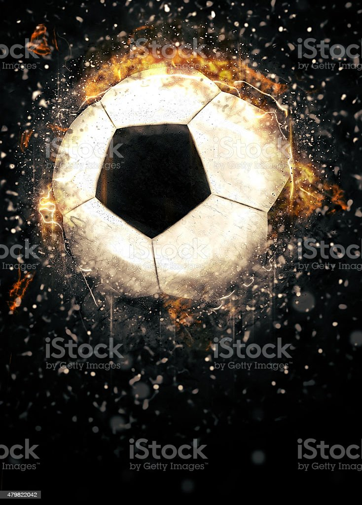 Soccer or football background stock photo