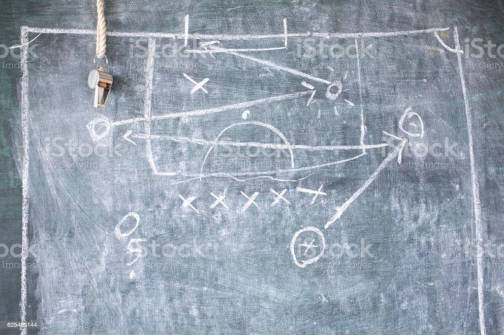 soccer or football tactical diagram stock photo
