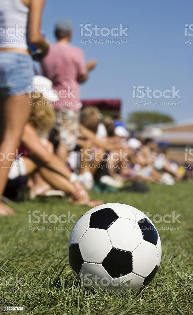 soccer parents on sideline. stock photo