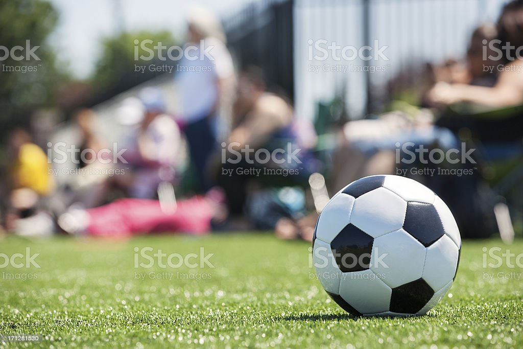 Soccer parents sidelines stock photo