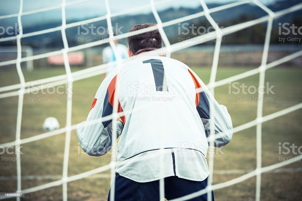 Soccer Penalty Kick stock photo