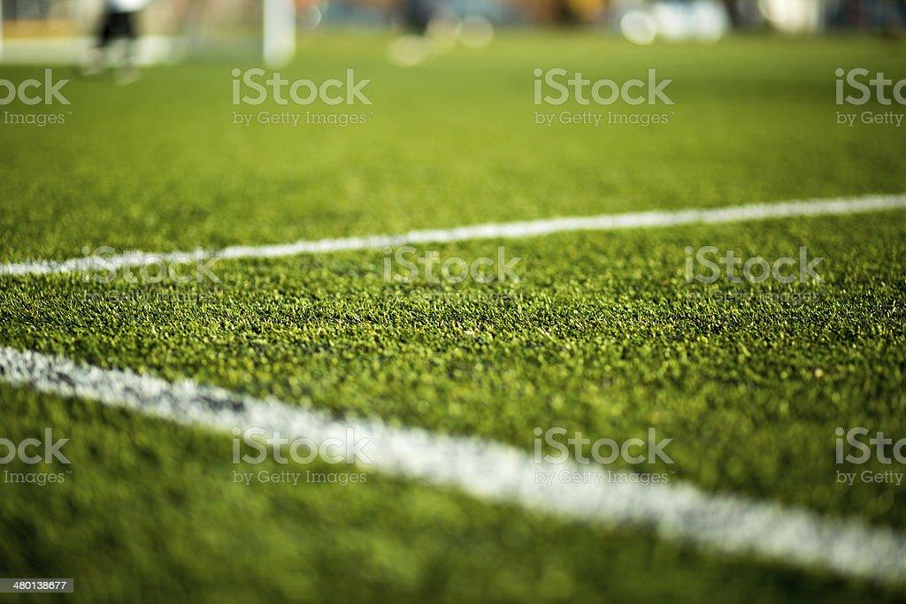 Soccer pitch stock photo