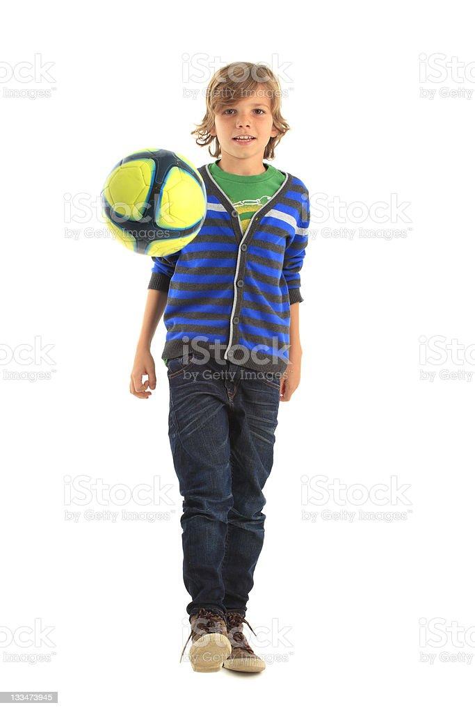 Soccer player boy royalty-free stock photo