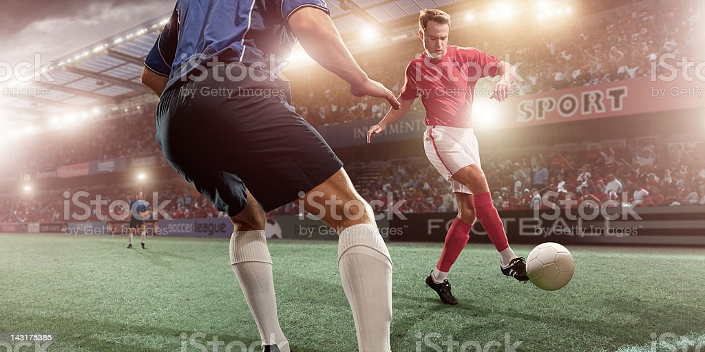 Soccer Player in Action royalty-free stock photo