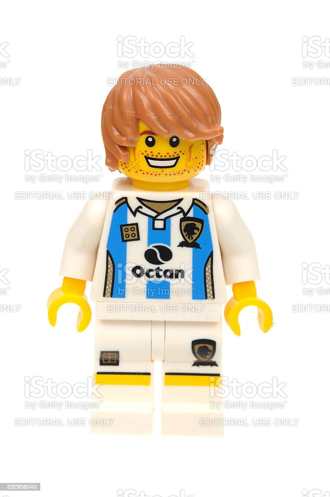 Soccer Player Lego Series 4 Minifigure stock photo