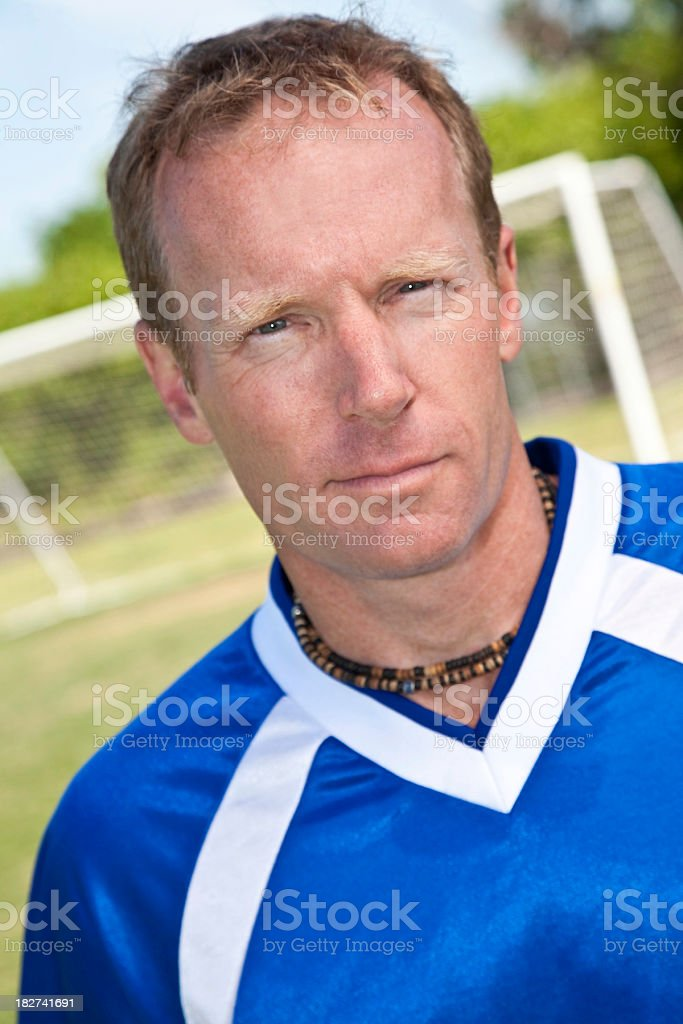 Soccer Player on the Field Portrait royalty-free stock photo