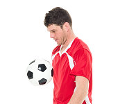 Soccer player playing with ball