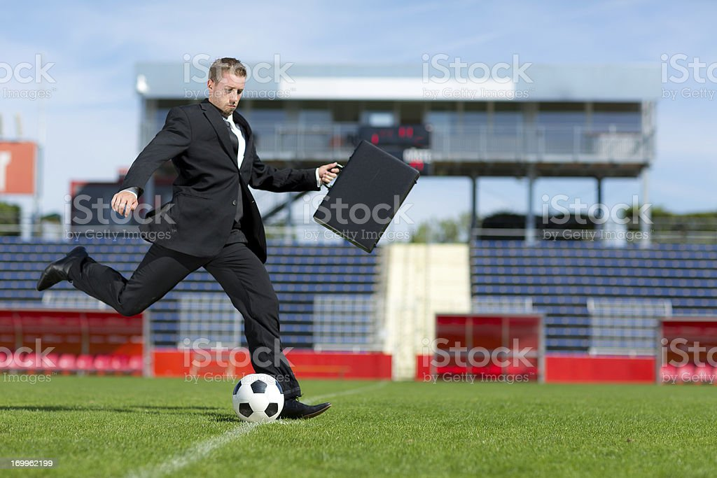 soccer player transfer royalty-free stock photo