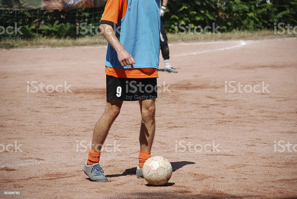 soccer player with ball royalty-free stock photo