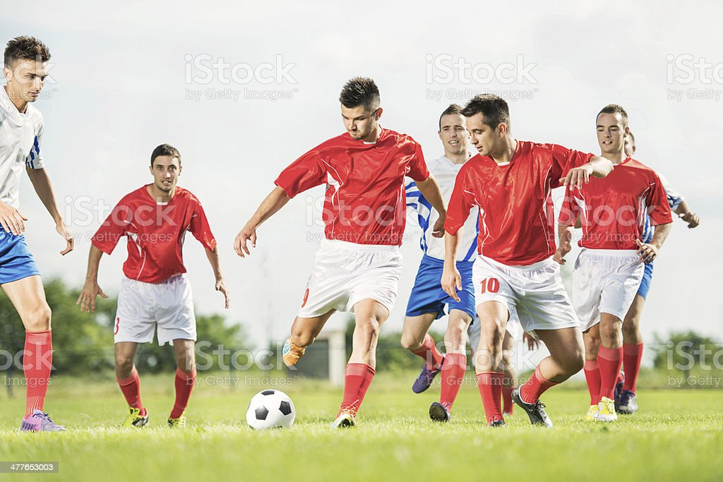Soccer players in action. royalty-free stock photo