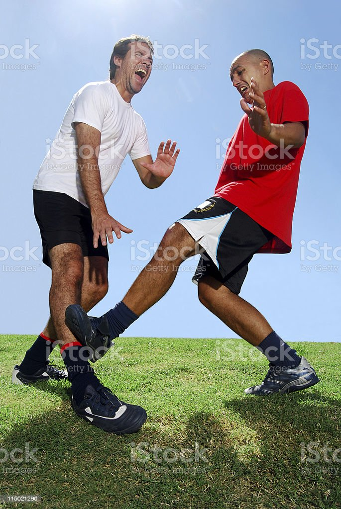 Soccer Players Rivals stock photo