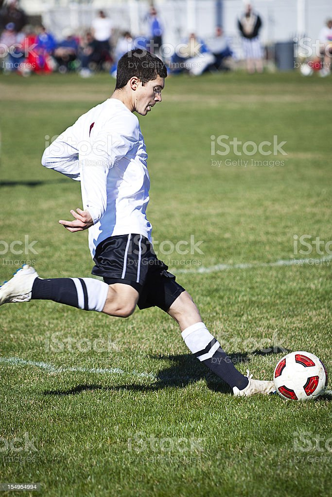 Soccer Power Kick Prep royalty-free stock photo