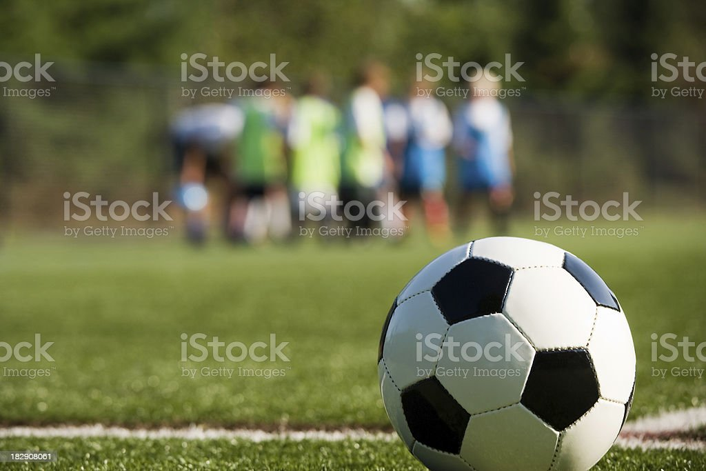 soccer practice royalty-free stock photo