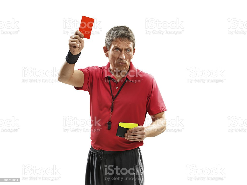 Soccer referee isolated royalty-free stock photo