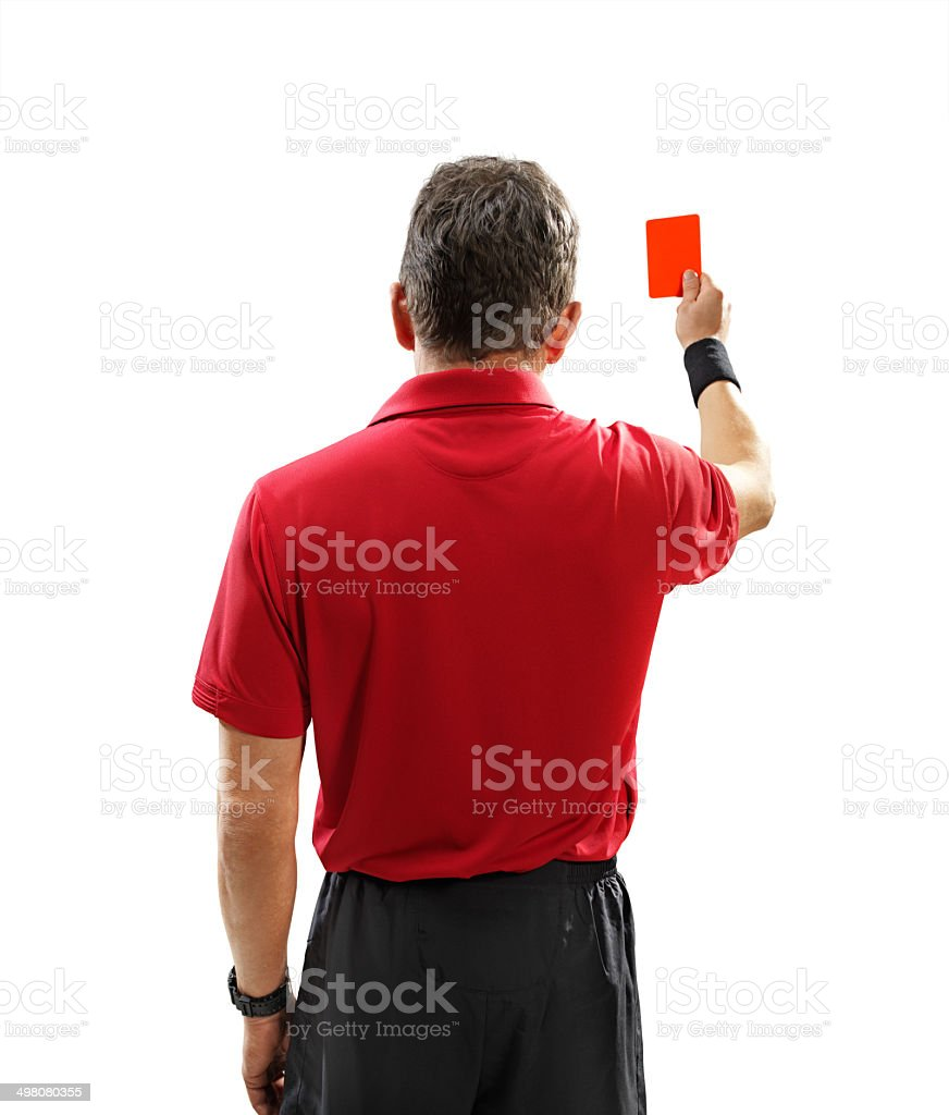 Soccer referee isolated stock photo