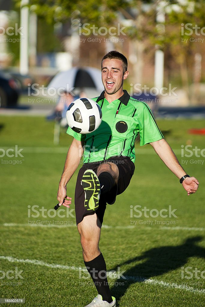 Soccer Referee Recreation royalty-free stock photo